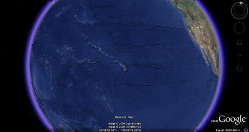 Hawaiian-eye view of the planet Earth